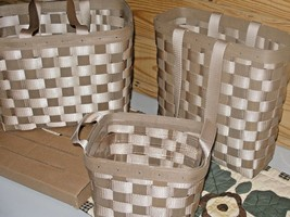Longaberger TO GO TOTE BASKETS ~ To Go set Large Tall & Small with extras - $266.30