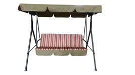 "Northlight 67"" Burgundy Red Tan 3-Seater Outdoor Patio Deck Swing Canopy - $231.40"