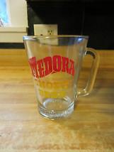 Medora Short Beer advertising beer company glass bar heavy type pitcher,vtg - $42.75