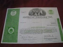 American Standard Preferred Stock certificate 1972 8x12 clean edges FREE... - $9.02