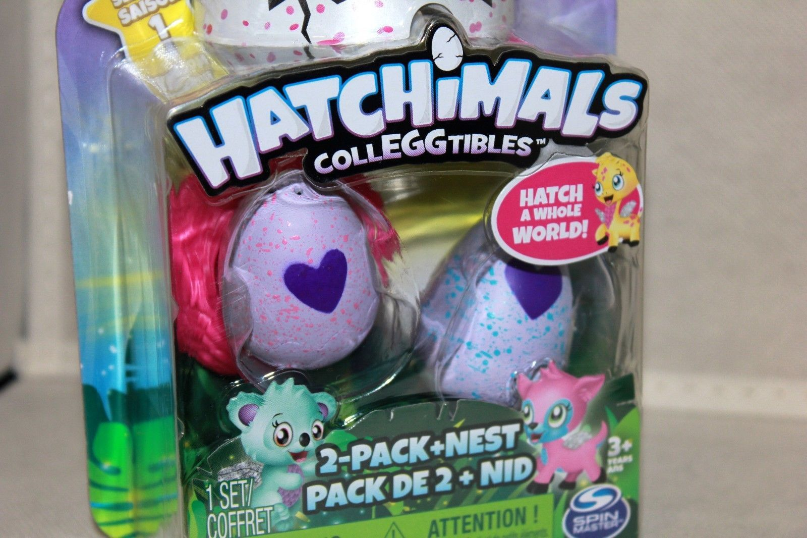 Hatchimals CollEGGtibles 2-Pack + Nest - Officially Licensed - New/Sealed