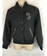 Miss London Wool Blend Varsity Jacket Size Small Snap Closure ML 35 - $18.52