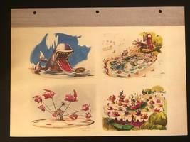 DISNEYLAND Concept Art Lithograph 60th VIP Gift 9x12 1954 Fantasyland Storybook - $23.02
