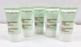 Clarins Pure and Radiant Cleanser Mask with Pink Clay  75ml (5 x 15ml) Sealed - $14.80