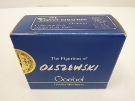 New Olszewski Goebel Miniature Snow White Grumpy Disney 1986 S-2 162-P S... - $59.35