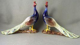 Vintage Alcobaca ELPA Peacocks Figurines Portugal - $162.45