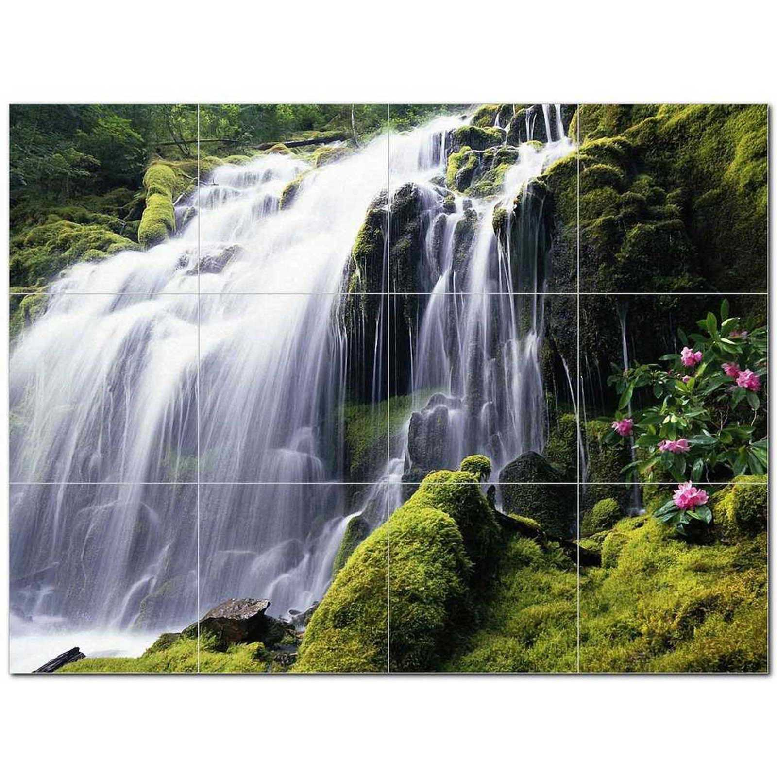 Primary image for Waterfall Photo Ceramic Tile Mural Kitchen Backsplash Bathroom Shower BAZ406104