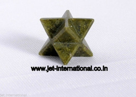 Jet Vasonite 8 Point Star Merkaba Sacred Geometry Healing Chakra Balancing - $10.44