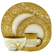 Elama Parisian Swirl 16 Piece Dinnerware Set - $93.17