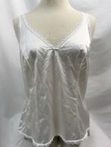 Warner's Perfekt Maß 55200 Weiß Schleife Unterhemd, Damen Größe 36 - $9.90