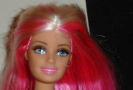 Nude Barbie doll pink hair with white streaks blue eyes straight legs 2014 - $17.99