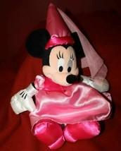 "Disneyland Parks Mickey Mouse Princess MINNIE Pink Satin Plush Doll Toy 13""  - $9.29"