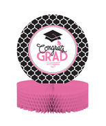 Glamorous Grad Pink Black Centerpiece 12x9 Cong... - $4.74