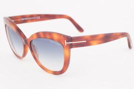 Tom Ford Alistair Blonde Havana / Blue Gradient Sunglasses TF524 53W - $195.02