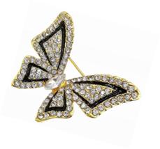 Crystal Rhinestone Butterfly Wing Brooch Pin for Women - $16.00+