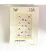 VTG Candamar Designs 50460 Cross Stitch Kit Animals Ribbons Baby Blanket... - $22.27