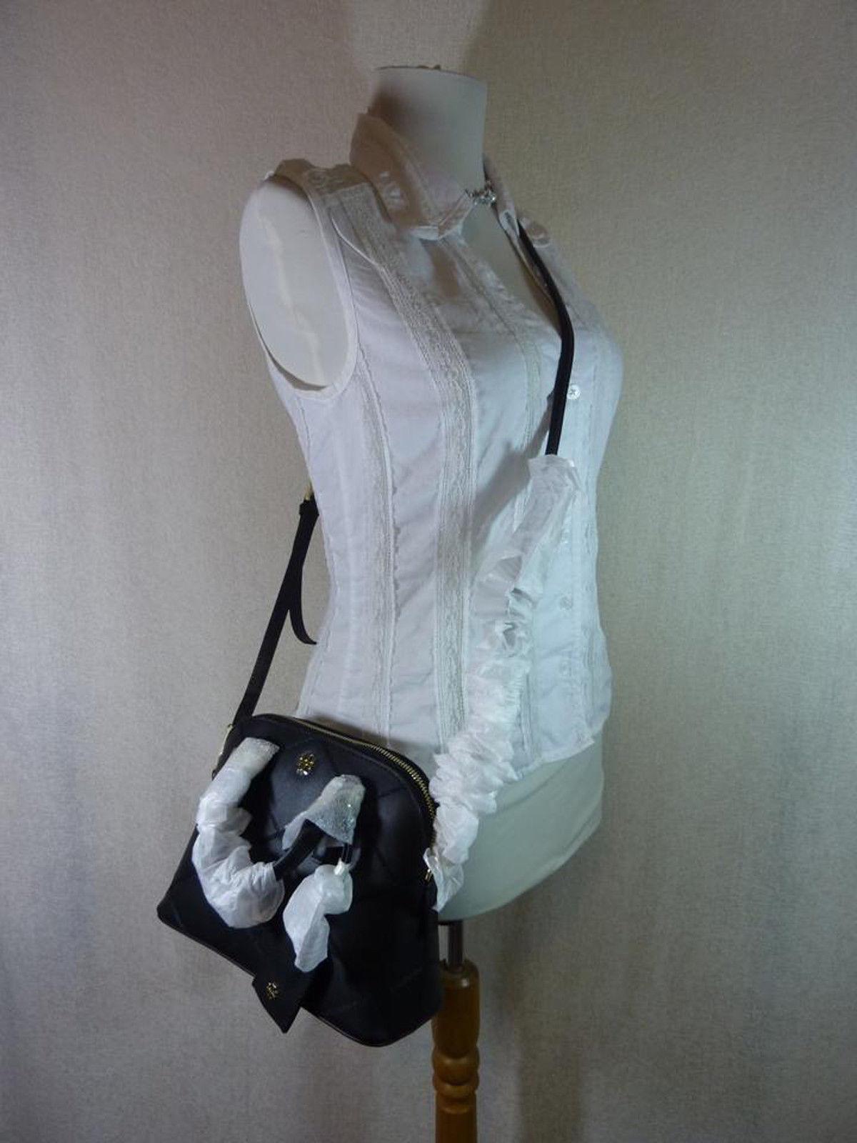 NWT Tory Burch Black Saffiano Mini Robinson Stitched Dome Cross Body Bag  - $425 image 7