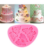 Butterfly Shape Silicone Fondant Cake Mold Decorating Chocolate Bakeware... - $11.90