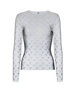 Marine Serre Long-Sleeved Reflective Moon-Print Stretch-jersey Top - $230.00