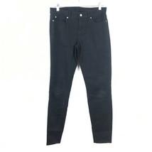 Gap Damen Größe 8/29 Regular Super Enge Twill-Hosen Schwarz 5 Tasche Style - $11.80