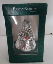Reed & Barton Silver Plate Revolving Musical Snowman Christmas O' Tannen... - $26.18