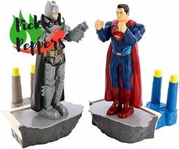 Retro Fighting Game Rockem Sockem Superman Batman Figure Travel Boxing T... - $62.92