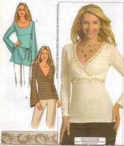 Misses Career Office Work Flared Sleeve Empire Knit Top Tunic Sew Patter... - $12.99