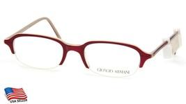 New Giorgio Armani 2013 358 Red Eyeglasses Frame 46-19-135 B29mm Italy - $64.34