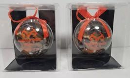 Christmas Ornaments (2) Realtree Camo 2017 with Hunter Orange RibbonHol... - $13.30