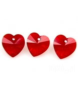 Swarovski Crystal 6228 18mm, Heart Pendant Red 1pcs - $2.20