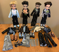 Bratz Formal Funk Eitan Dylan Cameron Koby Lot With Accessories + Clothi... - $140.81