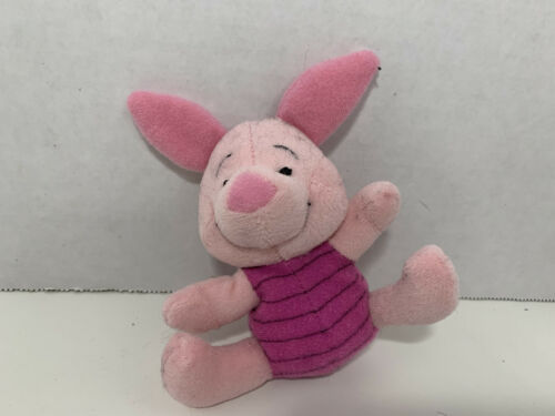 Primary image for First Years Winnie the Pooh mini Piglet plush rattle soft baby toy Disney 1997
