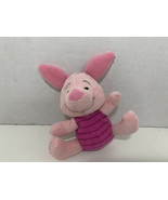 First Years Winnie the Pooh mini Piglet plush rattle soft baby toy Disne... - $4.94