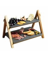 Triangular Cheese Board/Slate Cake Stand 2 Tier Cake/Serving Stand,Desse... - $66.24