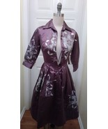 Designer Samantha Sung Wool/Silk, satin Audrey Dress, NWT, Sz XS  - $364.65