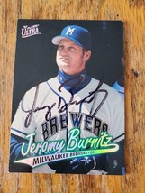 Jeromy Burnitz ~ Mil Brewers ~ 96 Fleer Ultra ~ Signed Autographed Baseb... - $2.93
