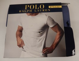 2 POLO RALPH LAUREN MENS 2XL 3XL 4XL BLUES 100% COTTON CREW T-SHIRTS UND... - $38.60