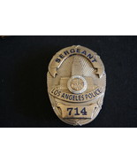 "Los Angeles Police,""Dragnet""  Sergeant Joe Friday Police Badge, Movie Props - $127.14"