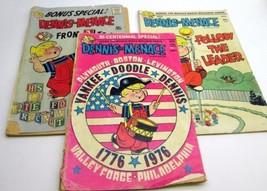 Vintage DENNIS THE MENACE Paperback Comic Book (lot of 3) 1966 1974 1975... - $6.43