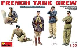 Miniart Models - 35105 - French Tank Crew - 1/35 - $16.99