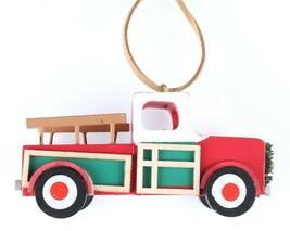 Wondershop Target Pickup Truck Wooden Christmas Ornament 2018 Wreath New w Tag image 1