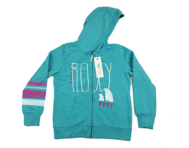 Primary image for Roxy Girl Full Zip Fleece Lined Sweatshirt Hoodie