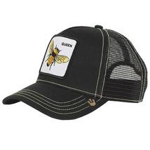 Goorin Bros Snapback Mesh Cap Embroidered Black Queen Bee Trucker Hat 101-0245 image 2