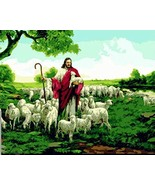 NEDVI Paint by Numbers Kit for Adults DIY and Kids Jesus' SheepFrame - $13.69