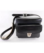 Plainsman 2 Vintage Black Leather Shoulder Camera Bag, Carrying Case - $54.44