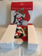 Fitz and Floyd Kitty Claus Canape Plate 2019/1015 NIB Frolicking in Sant... - $18.80