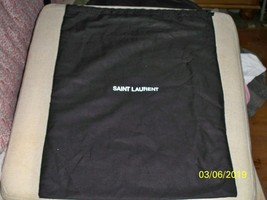 New Large  SAINT LAURENT YSL DUST BAG 12 x 16 Black with White Logo - $16.82
