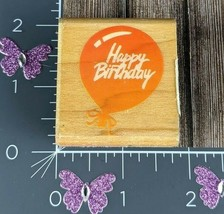Rubber Stampede Posh Impressions Happy Birthday Balloon Rubber Stamp #E154 - $3.95