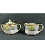 Lovely Fine Porcelain roses décor Noritake handpainted creamer n sugar - $50.00