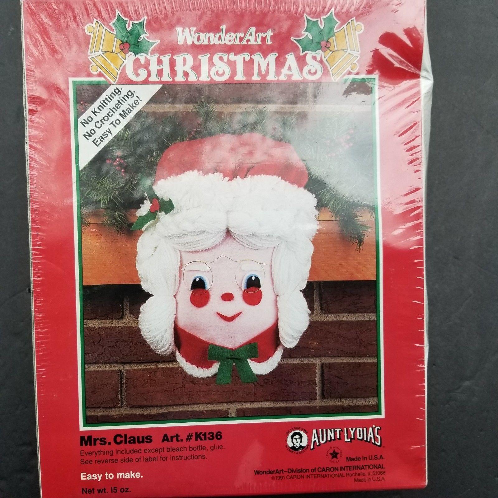 Aunt Lydia's Mrs. Claus Craft Kit WonderArt Christmas - $20.90